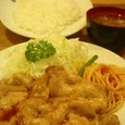 レストラン河鹿 別館のポークロースの生姜焼き