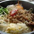 焼肉Garuvaの麺セットの小石焼ビビンバ