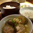Rab.cafeのゴーヤーの肉詰め煮のコムビンザン