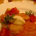 Bistro Vegetable Marketの地鶏もも肉のロースト 味噌クリームチーズ カボチャのミルク煮とピューレ トマトのロースト添え
