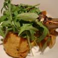 Osteria Austroの房総千倉産寒ぶりのぐりる信州根菜のトマト煮添え