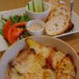 grill & aligo zipのゴロゴロ野菜が入ったグラタンランチ