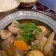 地鶏 黒木屋の野菜ごろごろ鶏煮込み定食