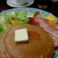 花時計のホットケーキ・ベーコン
