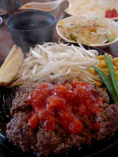 くろべこ亭の黒毛和牛100%ハンバーグステーキ