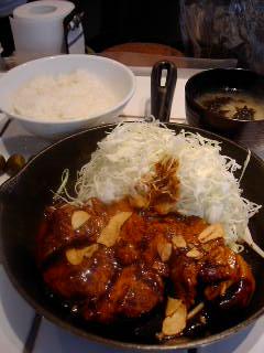 東京トンテキのトンテキ定食