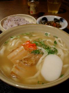 海人酒房の沖縄そば定食