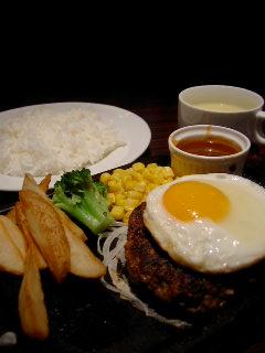 Red Steak Houseのデミ玉ハンバーグ
