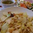 GIPSY-KID'Sの木の子と竹の子と白菜のアンチョビソースのスパゲッティ