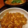 炎麻堂のミニ麻婆丼と酸辣湯麺ハーフ
