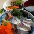 80*80の飛び魚の親子丼セット