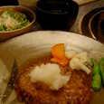 松阪のハンバーグ定食
