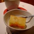 a la Cartonのデザート&黒豆茶
