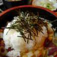 水瓶屋のスタミナ納豆重(海鮮入り)