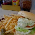 OCEANS BURGER INNのエビ&アボガドのサンドイッチ
