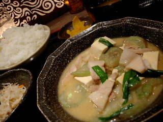 沖縄時間のナーベラー定食