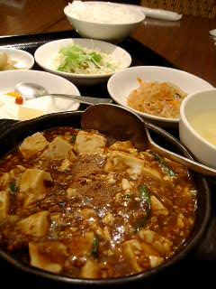 天天常常中華食堂の陳麻婆豆腐
