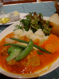 Ratatouilleの豚バラ肉のトマトソース煮込み