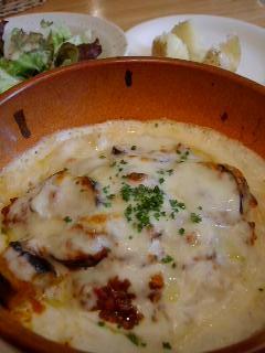 ピアチェーレの茄子のミートソースドリア