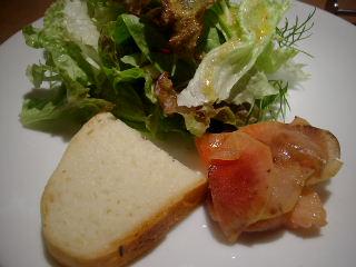 Osteria Austroのクロダイと紅芯ダイコンのマリネ