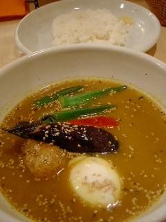 Shukurの温玉納豆オクラのスープカレー