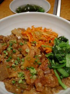銀座 大昌園の特製牛丼ランチ