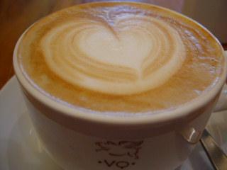 VIA QUADRONNOのカフェラテ