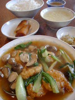 慶福楼の海鮮入り豆腐団子