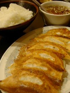 満州里菜館の焼き餃子&ご飯